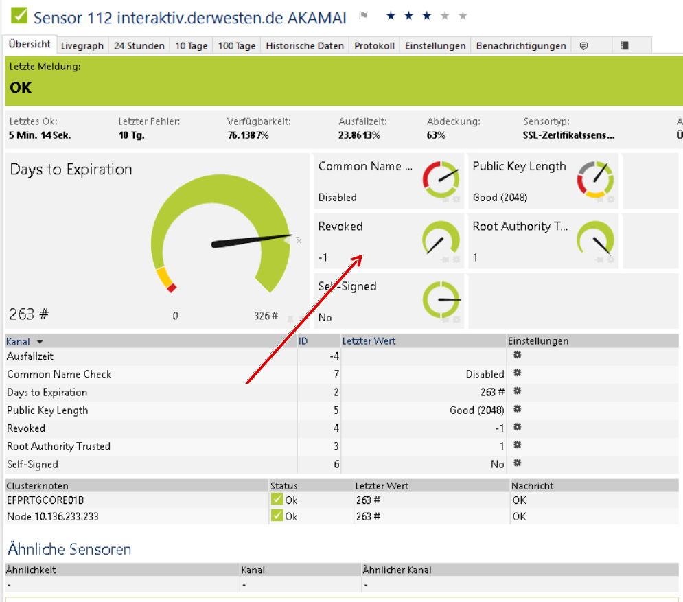 PRTG Network Monitor: Sensor SSL Zertifikat: Unable to check ...